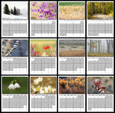 de aardkalender van 2017 Stock Fotografie