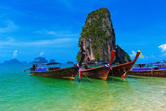 Het overzees van Thailand kostte tropische achtergrond Stock Fotografie