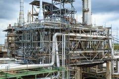 De aardolie van de de tankproductie van de raffinaderijindustrie royalty-vrije stock afbeeldingen