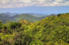 De aardpanorama van Puerto Rico royalty-vrije stock afbeeldingen