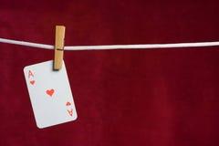 De aas van het hart Royalty-vrije Stock Foto's