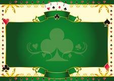 De aas van het pookspel van clubs horizontale achtergrond Stock Afbeelding