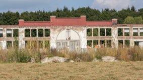 De Abadoned industriële bouw Stock Foto's