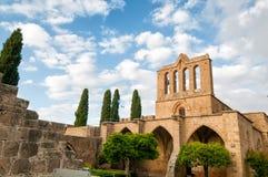 De Abdij van Bellapais Kyrenia, Cyprus Stock Foto's