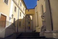 De abdij van de benedictine, Pannonhalma, Hongarije royalty-vrije stock afbeeldingen