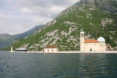 De abdij van de benedictine in Perast royalty-vrije stock afbeeldingen
