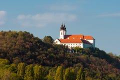 De abdij van de benedictine in Tihany Stock Foto