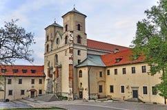 De abdij van de benedictine in Tyniec, Krakau, Polen stock afbeelding