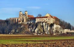 De abdij van de benedictine in Tyniec, Krakau, Polen stock fotografie