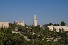 De Abdij van Dormition, zet Zion, Jeruzalem, Israël op Stock Afbeelding