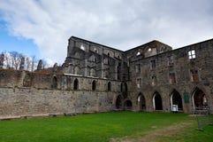De Abdij van het ruïnesklooster van Villers-La Ville, België stock foto's