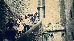 De abdij van het Saint-Michel van Mont stock videobeelden