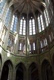 De abdij van het Saint Michel van Mont Stock Foto