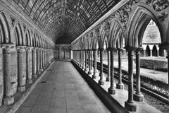 De abdij van het Saint Michel van Mont Stock Afbeeldingen