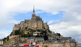 De Abdij van het Saint Michel van Mont, Frankrijk Stock Fotografie