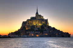 De Abdij van het Saint Michel van Mont, Normandië, Frankrijk Stock Afbeeldingen