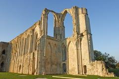De abdij van Maillezais Stock Foto's