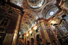 De Abdij van Melk - de kerk - Oostenrijk Stock Foto's