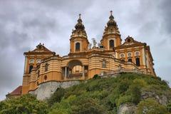 De abdij van Melk in Oostenrijk Stock Afbeelding