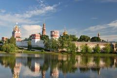 De abdij van Novodevichy. Stock Foto's