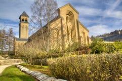 De abdij van Orval in België royalty-vrije stock afbeeldingen