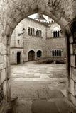 De abdij van Rocamadour Stock Foto