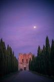 De Abdij van San Galgano, Toscanië Stock Afbeeldingen