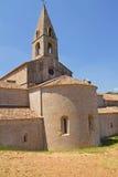 De Abdij van Thoronet in de Provence (Frankrijk) Stock Foto's
