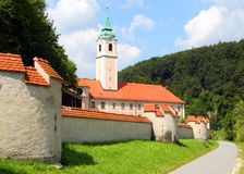 De Abdij van Weltenburg (Kloster Weltenburg) Royalty-vrije Stock Fotografie