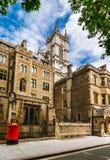 De abdij van Westminster: achter straatmening, Londen Stock Foto's