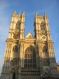 De Abdij van Westminster bij dageraad stock fotografie