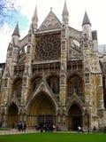 De Abdij van Westminster in Londen Stock Afbeeldingen