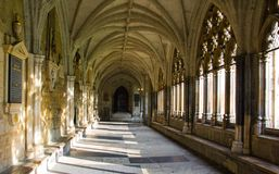 De Abdij van Westminster in Londen, Engeland stock foto
