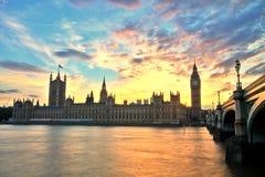 De Abdij van Westminster met Big Ben, Londen Royalty-vrije Stock Foto