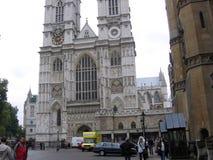 De Abdij van Westminster naast het Paleis van Westminster Londen Reino Unido stock foto's