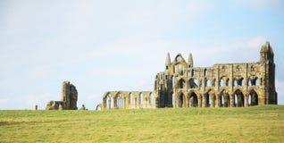 De abdij in Whitby Royalty-vrije Stock Afbeelding