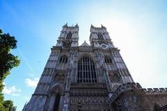 De abdijzonlicht van Westminster stock afbeeldingen