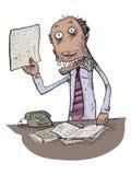 De abnormale werkgever grappig karakter royalty-vrije illustratie