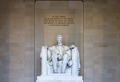 de Abraham Lincoln Memorial Washington fotos de stock