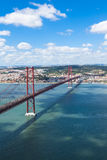 25 de Abril (April) Bridge in Lisbon - Portugal Stock Photography