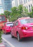 9 de abril Banguecoque Táxi cor-de-rosa em Banguecoque Fotos de Stock Royalty Free
