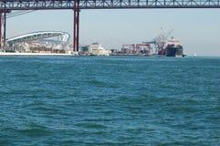 25 De Abril Bridge à Lisbonne Portugal Photos stock