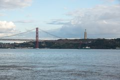 25 DE Abril Bridge Royalty-vrije Stock Afbeelding