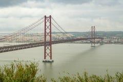 25 DE Abril Bridge Stock Fotografie