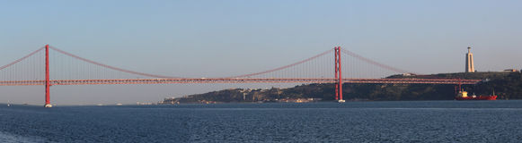 25 de Abril Bridge Lizenzfreies Stockfoto