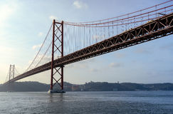 25 de Abril Bridge Photographie stock