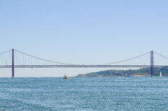 25 DE Abril Bridge Stock Foto