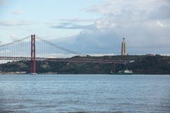 25 DE Abril Bridge Stock Afbeeldingen