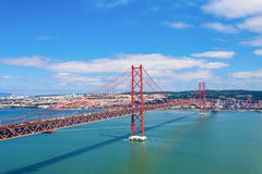 25 de Abril Bridge Stock Photos