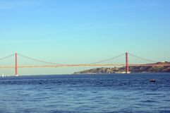 25 de Abril Bridge Royalty Free Stock Photography